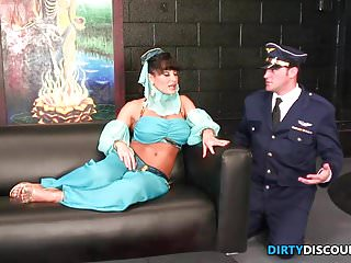Kacey and the midget genie - Milf genie gets facial