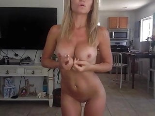 Milf dancing Blonde milf dancing