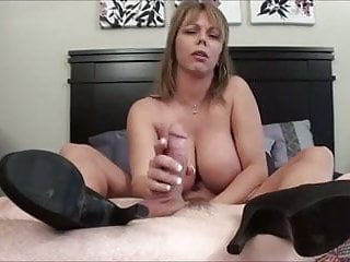Handjob sweaties Sweaty footjob and cum inside her shoe.