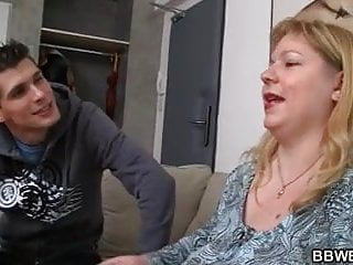 Big girl fucking skinny guy - Skinny guy doggy-fucks huge boobs fatty