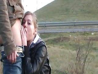 Sex public highway - Deepthroat by public highway