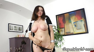 Busty european beauty fucked in gaping ass