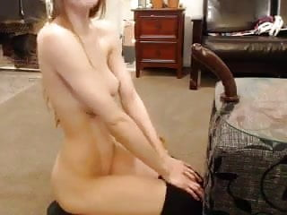 Large dildo 3 Adorable tight girl plays with large dildo