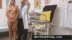 Voyeur video of hot blonde obgyn exam
