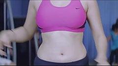 Hansika Sexy Fap Workout