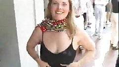 waiting a little to flash her tits at mardi gras