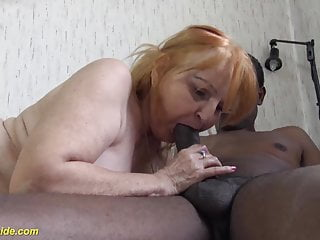 Interracial moms sex video - 77 years old mom fucked by black stepson