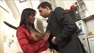 Sexy Hung Black Shemale Flavia Fucking Bitch Men -SiNNE-