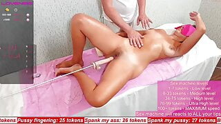 Stepsister wanted a massage and then asked me to cum inside