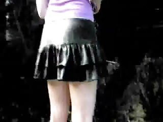 Hidden voyeur free - Black mini skirt and panty free