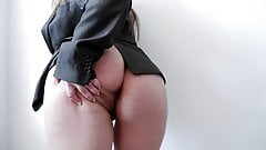 Big Tits MILF Masturbates Hairy Pussy