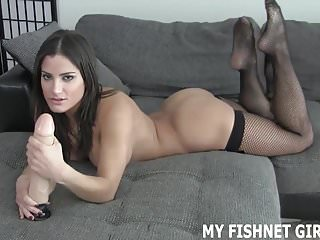 Tease your clitoris I cant wait to tease your cock in my new fishnets joi