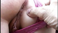 Lusty blond gets her juicy pussy fingered then licked and fucked