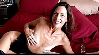 Mature mom enjoys cock and dildo