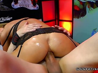 Ass licking with cum Elen million in anal dp and ass licking actions