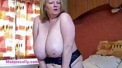 Sally stripping in her bedroom