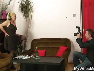 Cheating hairy moms - Taboo sex with her old blonde mom and boyfriend