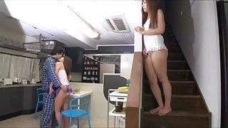 Ayumu Sena and other Japanese girls in short skirts groped
