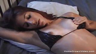 Skinny brunette gets her first taste of big black cock - Pu