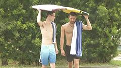 Gay Men Fucks In A Rainy Holiday