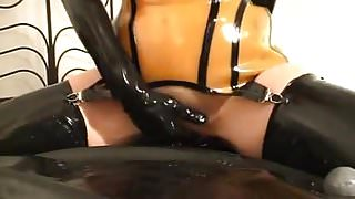 Rubber whore - pissing and fucking - part 4-6