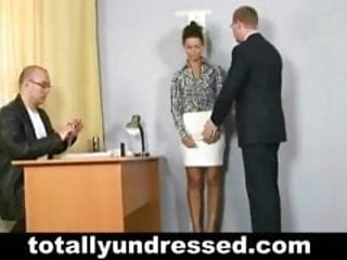 Sex with unexpected girlsvideos - Unexpected undressing and dildo fuck at job interview
