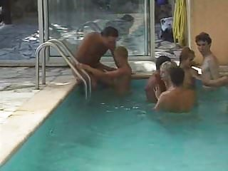 French swingers videos - French swingers swimingpool