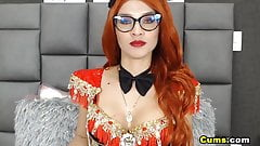 Redhead Chick Pleasures Herself Using Her Sex Toys