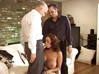 Watching His Old Wife Exploited By 3 Hard Cocks F70