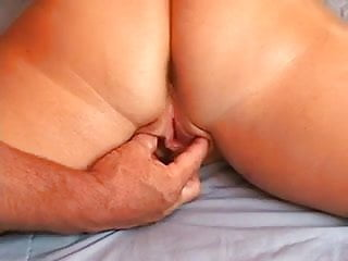 Cum shotglass - Husband making her cum over and over