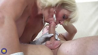 Mature blonde step mom suck and fuck mature daddy