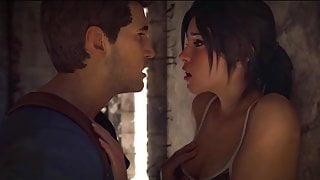 Nathan Drake & Lara Croft fuck: HydraFXX animation