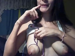 Asian lactating sucking tits Latina saggy tied tits, pink nipples, sucked on for milk