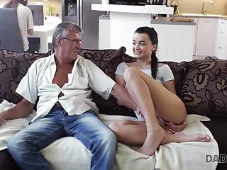 Fucking the computer Daddy4k. guy is occupied with computers so why gf fucks his