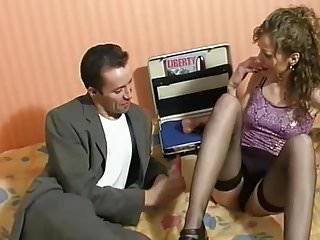 Concrete vibrator seller French amateur sextoys seller fucks a good bitch