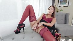 Horny Christy Love gets excited on the phone
