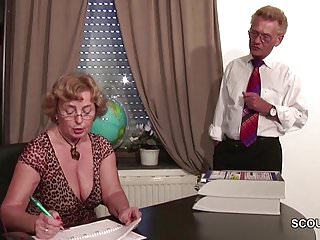 Mature granny free movies porn german - German old couple in first time porn casting roleplay