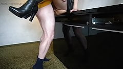 footjob in leather skirt n ankle boots - projectsexdiary