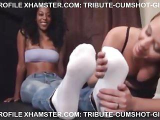 Black shemales licks cumshot Lesbian licking black feet.
