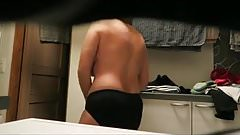 Mature hairy bathroom spy compilation