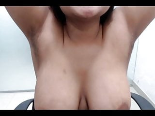 Big boob tease video Hairy armpits big boob aunt teasing and seducing