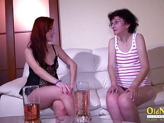 Teen lesbian sex with toys Oldnanny old mature and teen lesbian masturbation