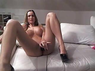 Sexy girl vibrator orgasm - Sexy brunette dildo orgasm