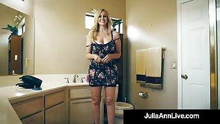 Fan Fuck! Lucky Cock Bangs Beautiful Busty Cougar Julia Ann!