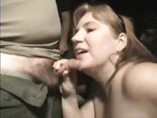 Kinky cum Kinky wife in cinema drinks cum