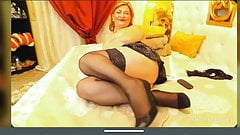 Granny Kate little tits show pussy and masturbation