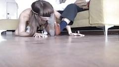 Sub Slave spanking at feet