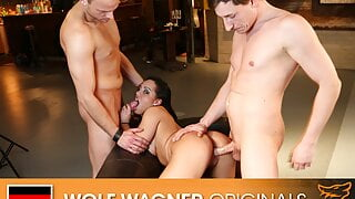 Latina Danny Bubbles gets banged by 2 guys! Wolfwagner.com