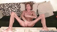 Very skinny granny strips off and masturbates (compilation)