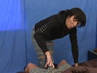 Cock handjob milf Step mom helps wake you up - handjob with cum blast